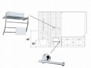 how to place bathroom hardware slow home studio With height of robe hook in bathroom