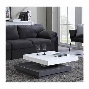 Salon Gris Blanc : table de salon gris et blanc 10 id es de d coration int rieure french decor ~ Dallasstarsshop.com Idées de Décoration
