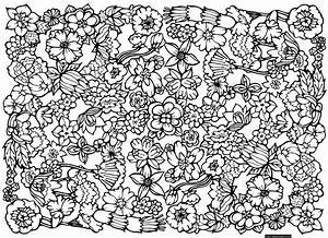 Free Coloring Pages Of Difficult Patterns 14440 ...