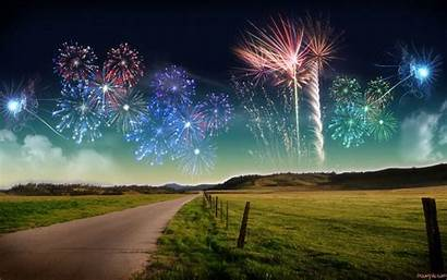 Wallpapers Pc Background Backgrounds Fireworks Eve Down