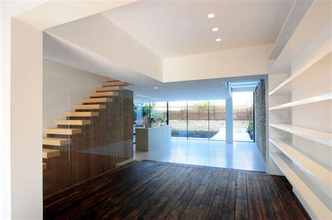 bureau de change 7 wood flooring stairs glass wall modern home in