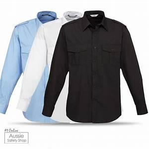 PREMIUM BLACK/WHITE/LIGHT BLUE EPAULETTE OFFICE LONG ...