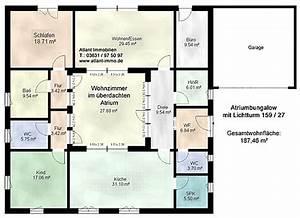 Atrium Bungalow Grundrisse : atriumbungalow mit lichtturm 159 27 einfamilienhaus neubau massivbau stein auf stein ~ Bigdaddyawards.com Haus und Dekorationen