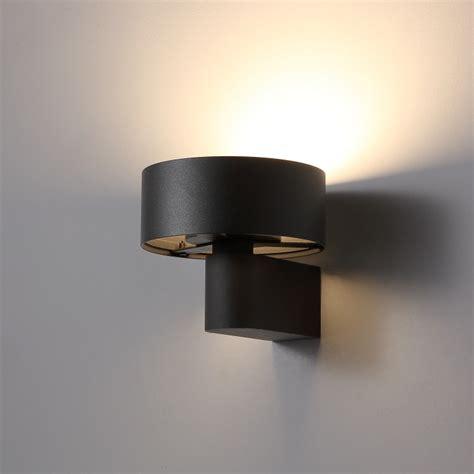 lwa297 6 watt black finish metal wall light interior led