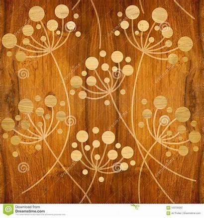 Texture Interior Flower Seamless Dandelions Wooden Behang