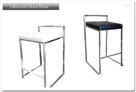 tabouret de bar cuir mod 232 le bora bora plan de travail 33 fr