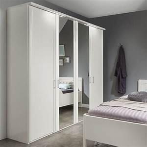 Weißer Kleiderschrank Mit Spiegel : wei er kleiderschrank mit spiegel g nstig calimera ~ Frokenaadalensverden.com Haus und Dekorationen