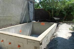 terrific faire sa piscine en parpaing ideas best image With construire sa piscine en dur