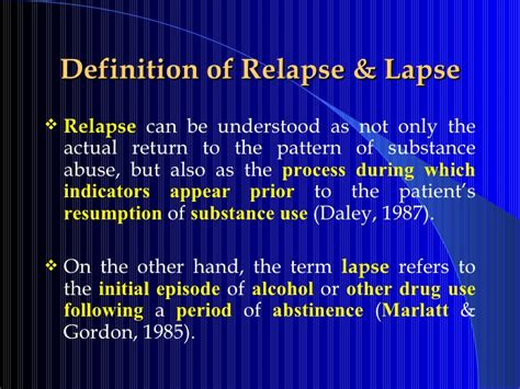 Define Resumption by Relapse Prevention Pps
