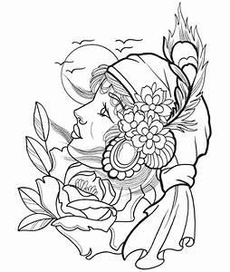 desenho de rosto de cigana para colorir tudodesenhos With powerful siren