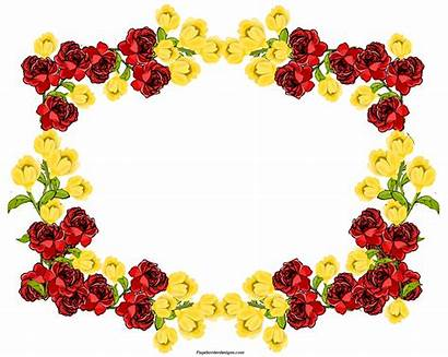 Frame Border Yellow Flower Floral Flowers Clip