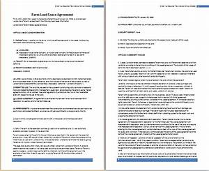ms word farm land lease agreement template free With farm rental agreement template