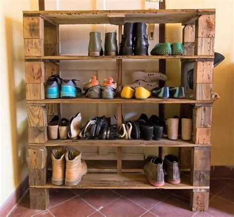 pallet shoes rack ideas   easy