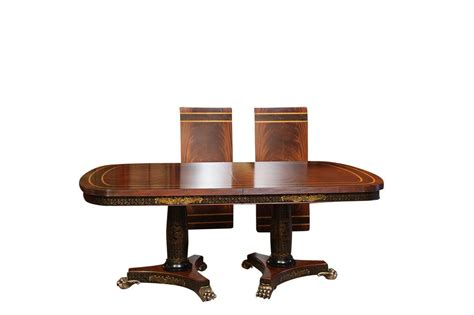 mahogany dining table regency dining table with brass paw and chinoiserie 4900