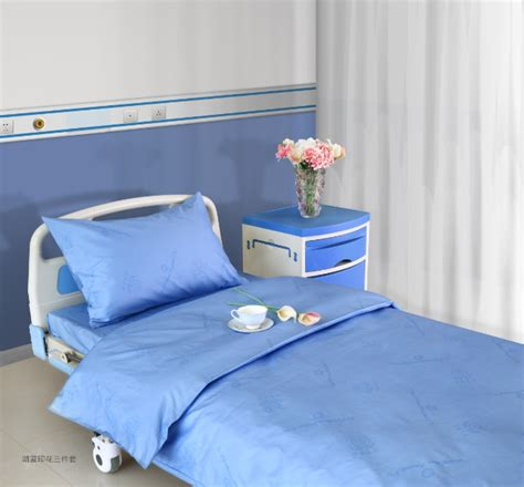 Pure Color Hospital Bed Sheet Set (bed Sheet, Pillow Case