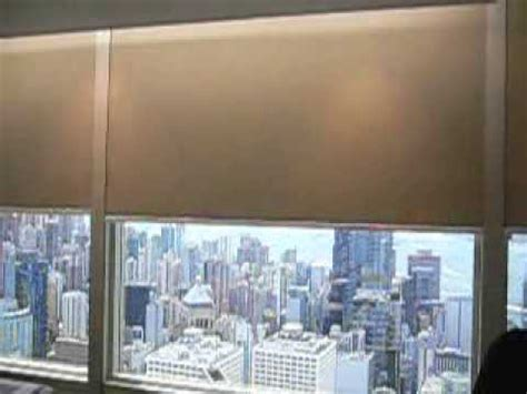 blackout motorized roller blinds  side track  cheung