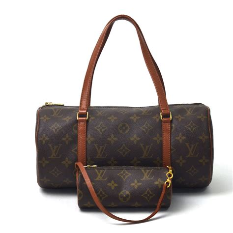 auth louis vuitton monogram papillon   style handbag