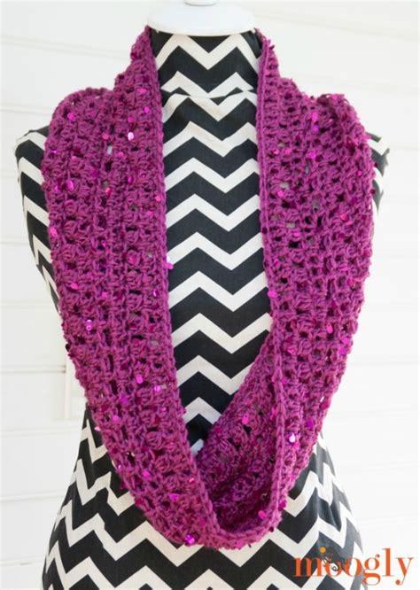 suddenly sparkles scarf  crochet pattern  moogly