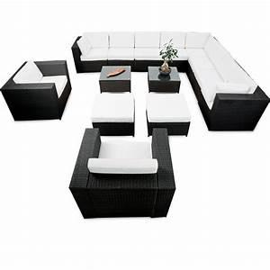Lounge Set Günstig : modulares 41tlg gartenm bel xxl lounge set polyrattan anthrazit lounge m bel sets ~ Indierocktalk.com Haus und Dekorationen