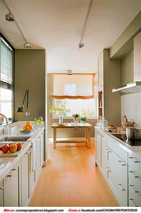 decorar una cocina alargada  estrecha cocinas bellas