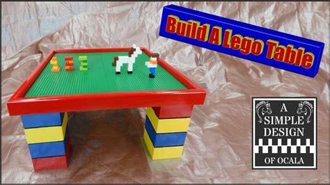build  lego table youtube