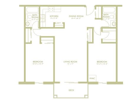 split floor plan house plans 2 bedroom 2 bathroom split