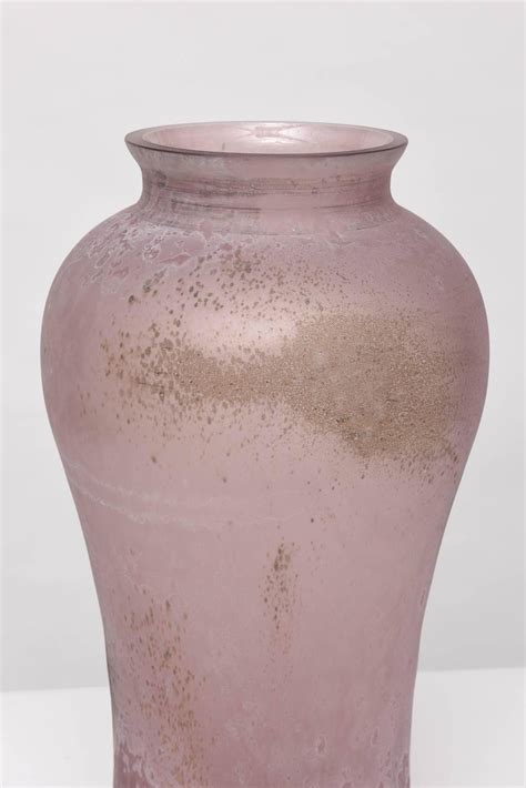 large scale signed cenedese scavo glass urn for sale at 1stdibs