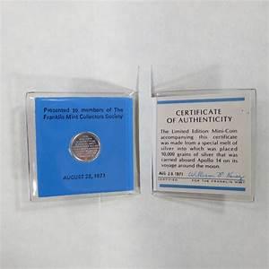 Apollo 14 Silver Mini Coin (Franklin Mint, 1971) Current ...