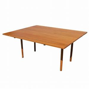 Danish mid century modern drop leaf dining table ebay for Leaf dining table