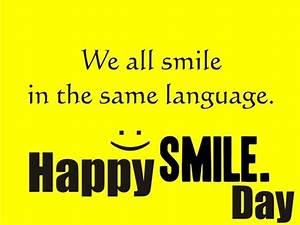 World Smile Day... Same Smile Quotes