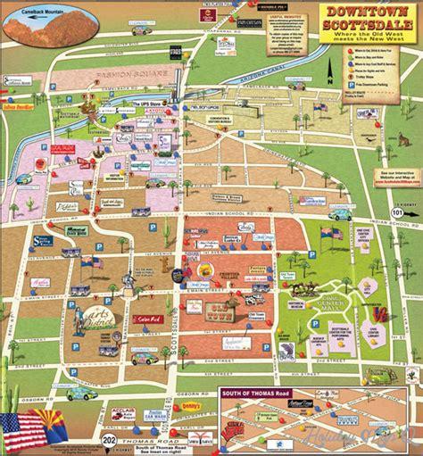 scottsdale map holidaymapqcom