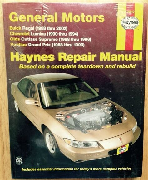 1999 Pontiac Grand Am Repair Manual by 1988 1996 1997 1998 1999 2000 2001 2002 Buick Chevy Olds