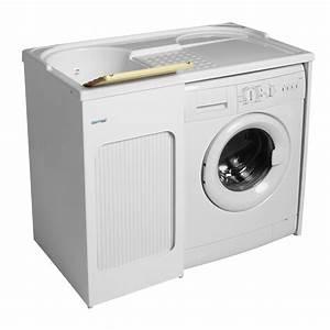 Mobile con lavabo e porta lavatrice 106x60x89 Lavacril