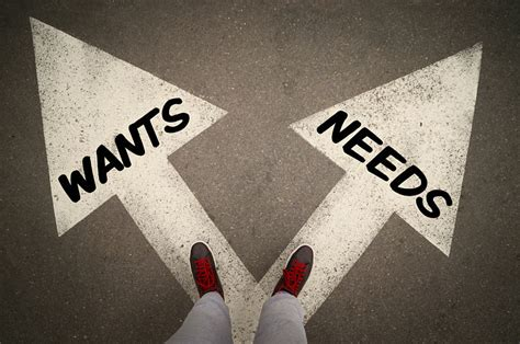 Wants Vs Needs Priorities In Your Digital Marketing  Rocks Digital