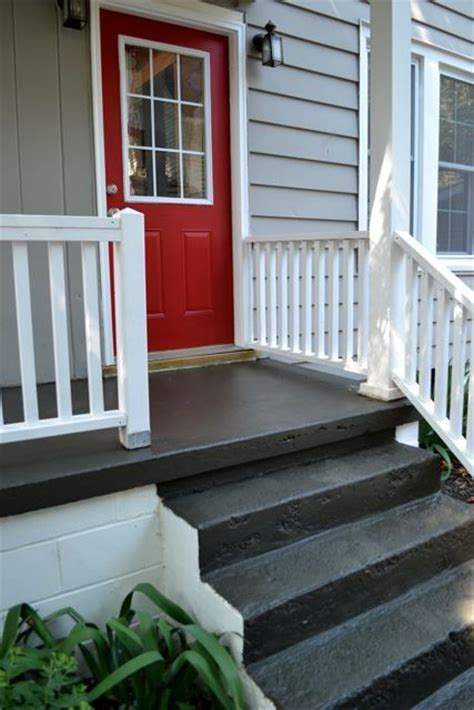 painted concrete porch ideas  pinterest