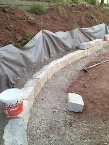 Fundament Für Mauer : gartengestaltung trockenmauer aus naturstein bauen ~ Whattoseeinmadrid.com Haus und Dekorationen