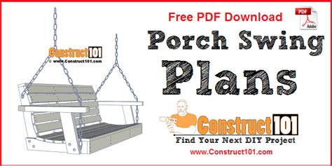 porch swing plans    construct