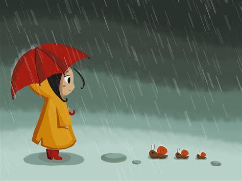 Raining Girl by xiao-wei - Dribbble