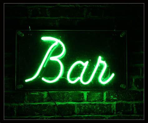 green bar neon sign