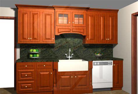 Oak kitchen cabinets white appliances, valance over