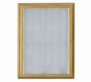 aarco products lowfc3624g led lighted enclosed bulletin With letter board gold frame