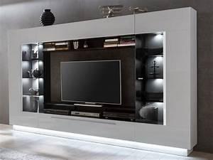 Tv Wand Kaufen : tv m bel tv wand mit stauraum led beleuchtung blake kaufen ~ Watch28wear.com Haus und Dekorationen