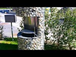 cheminee mit charme runde feuerstelle steingrill im With feuerstelle garten mit pflanzkasten balkon
