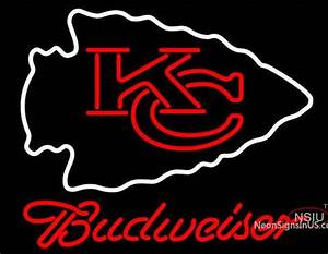 Budweiser Kansas City Chiefs NFL Neon Sign – NeonSigns USA INC
