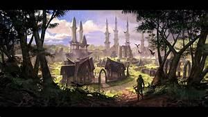 Elder, Scrolls, Online, The, Elf, Kingdom, Wallpapers, And