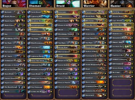 hearthstone deck list hearthstone news all decklists from seatstory cup
