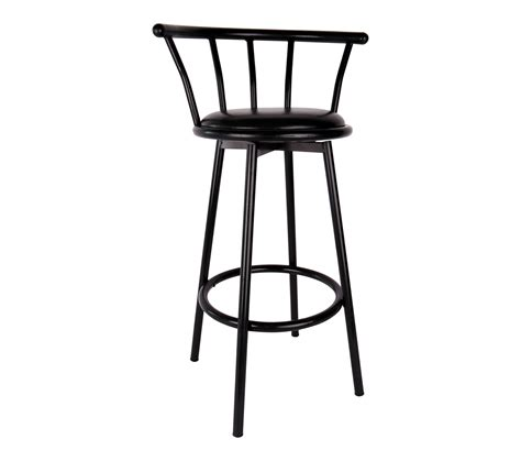 Cushioned Bar Stools With Backs by Bar Stool Black With Padded Seat And Back S