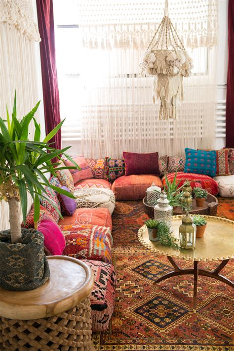 Formal Living Room Throw Pillows by Moroccan Floor Pillows Lined Up Against A Corner Wall