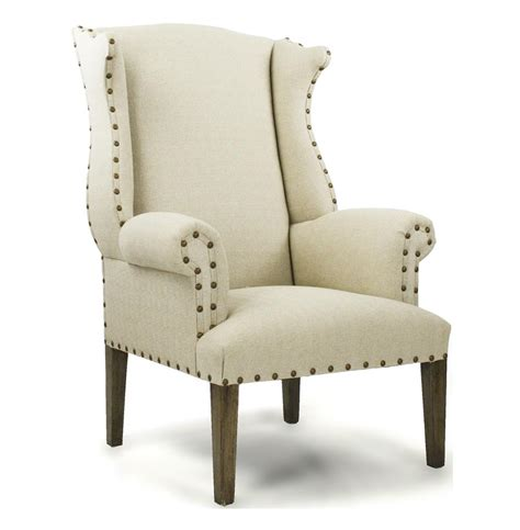 country linen nail wing back arm chair kathy