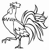 Rooster Coloring sketch template
